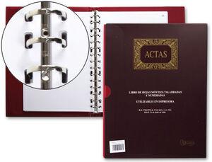 MIQUELRIUS LIBRO ACTAS MÓVILES A4 100H TALADRADO 4102/61150 MAK001173