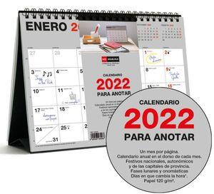 MIQUELRIUS CALENDARIO SOBREMESA 2022 A5 BASIC PARA ANOTAR MR28096
