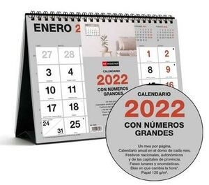 MIQUELRIUS CALENDARIO SOBREMESA 2022 A5 BASIC NUMEROS GRNADES MR28099