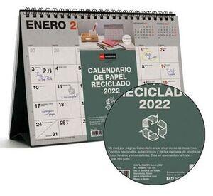 MIQUELRIUS CALENDARIO SOBREMESA 2022 A5 RECYCLED MR28701