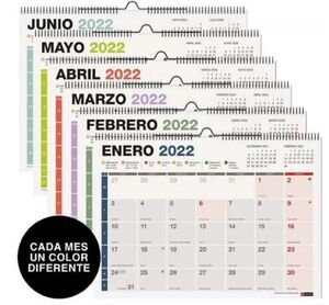 MIQUELRIUS CALENDARIO PARED 2022 A3 NUMEROS COMPLETO MR28705