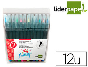 LIDERPAPEL ROTULADOR PINCEL 12 COLORES CS09922