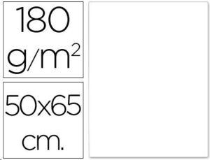 CARTULINA LIDERPAPEL 50X65 CM 180G/M2 BLANCO 125U.