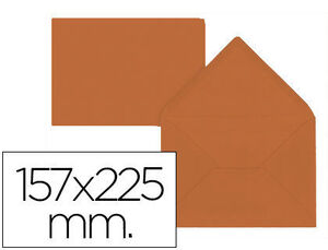 SOBRE LIDERPAPEL C5-EA5 MARRON 157X225MM 80 GR PACK DE 9 UNI