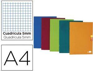 LIBRETA LIDERPAPEL SCRIPTUS A4 48 HOJAS 90G/M2 CUADRO 5MM CO