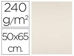 CARTULINA LIDERPAPEL 50X65 CM 240G/M2 CREMA PAQUETE DE 25 UN