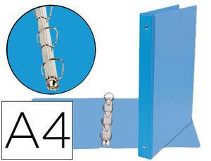 CARPETA DE 4 ANILLAS 25 MM MIXTAS LIDERPAPEL A4 CARTON FORRADO PVC AZUL