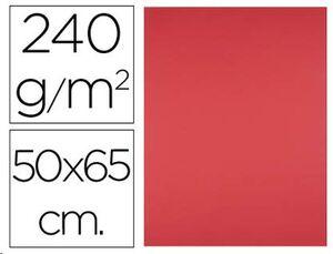 CARTULINA LIDERPAPEL 50X65 240GR/ ROJO