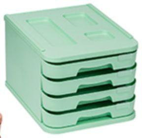 FAIBO MUEBLE PLASTICO 4 CAJONES VERDE PASTEL 1000M-34 28,5X37,5X23CM
