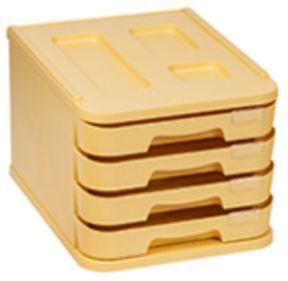 FAIBO MUEBLE PLASTICO 4 CAJONES AMARILLO PASTEL 1000M-35 28,5X37,5X23CM