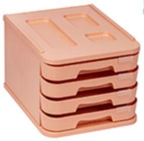 FAIBO MUEBLE PLASTICO 4 CAJONES NARANJA PASTEL 1000M-31 28,5X37,5X23CM