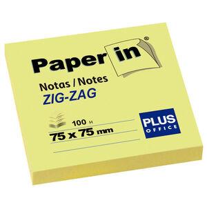 CAMPUS NOTA ADH.PAPER-IN 75X75 ZIG-ZAG AMARI 30300 ZIGZAG MAK001835