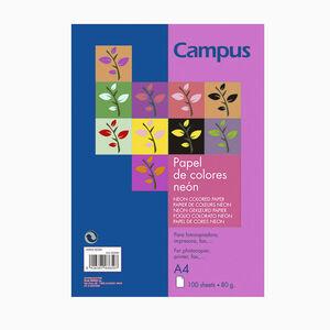 PAPEL CAMPUS A4 80GR 100H ROSA NEON 002891