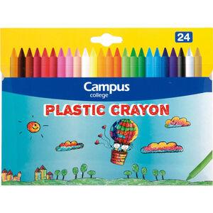 CAMPUS CERAS DURAS PLASTIC CRAYON 24COLORES 630776
