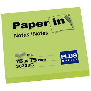 CAMPUS NOTA ADH.PAPER-IN 75X75 80H VERD.NEON 30300N MAK001209