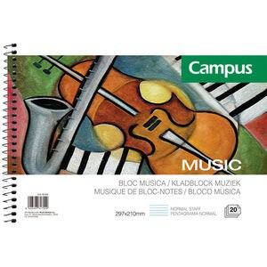 CAMPUS BLOC MUSICA A-4 20/H 80GR 1902-53 MAK001902