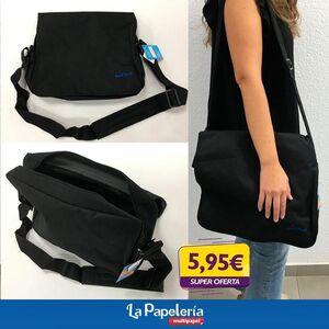 COOLROCK BOLSO BANDOLERA NEGRO CON CREMALLERA