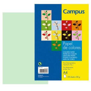 CAMPUS PAPEL CAMPUS A4 80GR 100H VERDE CLARO IT190 A4/100 MAK001009