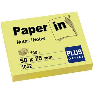 CAMPUS NOTA ADH.PAPER-IN 50X75 100H AMARILLO 30200 MAK001628