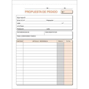 PLUS OFFICE TALONARIO MK PEDIDOS 4º NAT.ORIGINAL T27 MAK001394