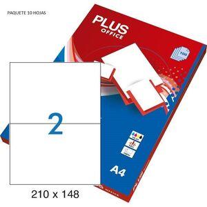 ETIQUETAS PLUS A4 105X148 10 HOJAS 40 ETIQUETAS 035847