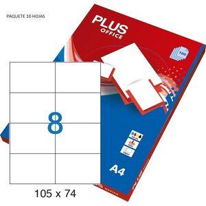 ETIQUETAS PLUS A4 105X57MM 10 HOJAS 100 ETIQUETAS  035849