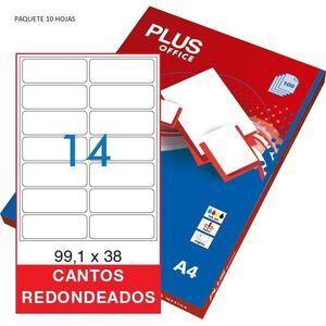 ETIQUETAS PLUS A4 105X35MM 10 HOJAS 160 ETIQUETAS 035854