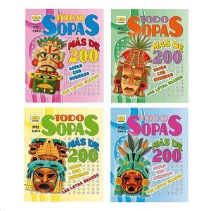 DISTRIPUBLI TODO SOPAS DE LETRAS  7161 164 PAGINAS MAS DE 200 SOPAS