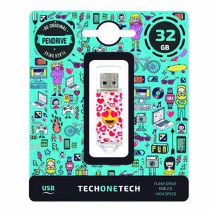 PENDRIVE TECH1TECH 32GB HEART-EYES 247610