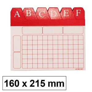 MAKRO PAPER INDICE ALF.FICHERO Nº5 160X215 CARTON 6005 MAK209479