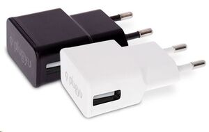 PLUGYU CARGADOR PARED  1 USB  BLANCO