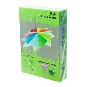 PLUS OFFICE PAPEL SPECTRA A4 80GR 500H VERD.MANZA IT230 A4/500 MAK001013