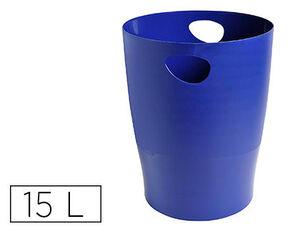 EXACLAIR PAPELERA EXACOM ECOBIN PLASTICO AZUL 453104D MAK040744