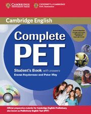 COMPLETE PET STUDENT'S BOOK PACK (STUDENT'S BOOK WITH ANSWERS WITH CD-ROM AND AU