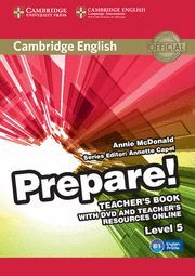 CAMBRIDGE ENGLISH PREPARE! LEVEL 5 TEACHER'S BOOK WITH DVD AND TEACHER'S RESOURC