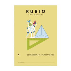 CUADERNO RUBIO COMPET.MATEMATICA 4