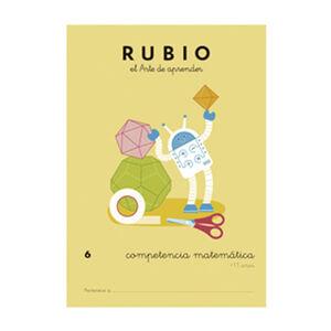 CUADERNO RUBIO COMPET.MATEMATICA 6