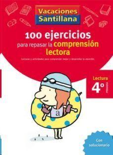 LIBRO DE VACACIONES COMPRENSION LECTORA 4º.PRIMARIA VACACIONES SANTILLANA