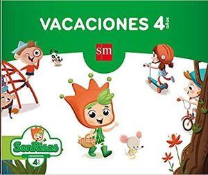 LIBRO DE VACACIONES 4 AÑOS (SONRISAS) SM