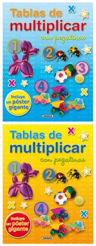 TABLAS DE MULTIPLICAR CON PEGATINAS (2 TÍTULOS)