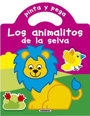PINTA Y PEGA LOS ANIMALITOS DE LA SELVA