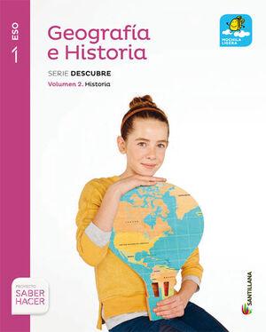 GEOGRAFIA E HISTORIA MOCHILA LIGERA SERIE DESCUBRE 1 ESO SABER HACER