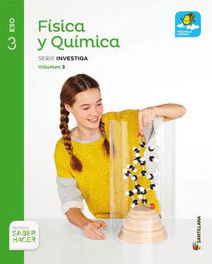 FISICA Y QUIMICA MOCHILA LIGERA SERIE INVESTIGA 3 ESO SABER HACER