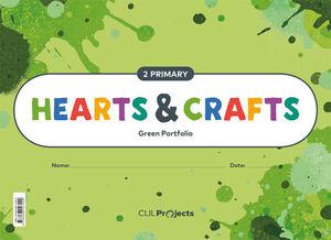 HEARTS & CRAFTS GREEN NOTEBOOK 2 PRIMARIA