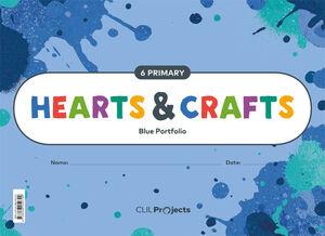 HEARTS & CRAFTS BLUE  NOTEBOOK I 6PRIMARIA
