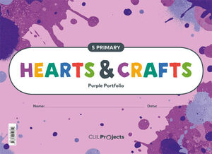HEARTS & CRAFTS PURPLE NOTEBOOK I 5 PRIMARIA