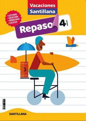 LIBRO DE VACACIONES REPASO 4º PRIMARIA 2020 SANTILLANA