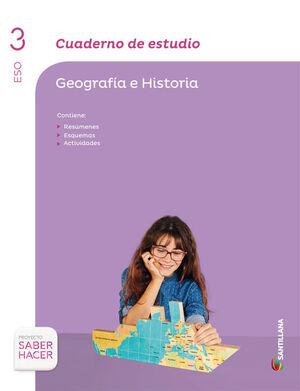 CUADERNO DE ESTUDIO GEOGRAFIA 3 ESO SABER HACER