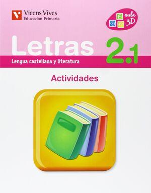 LETRAS 2 ACTIVIDADES (2.1-2.2-2.3)