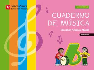 CUADERNO DE MUSICA 6+CD